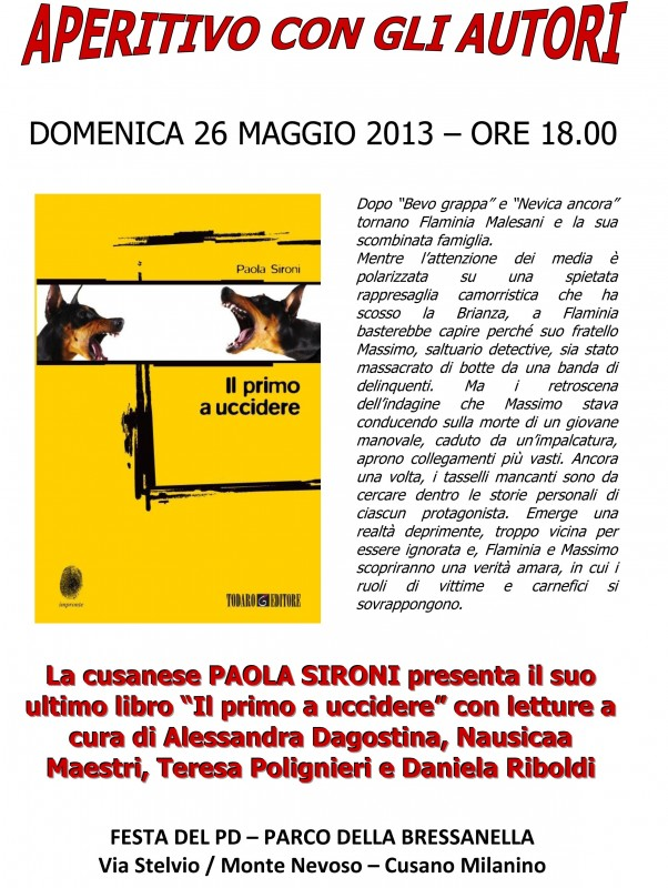IL PRIMO A UCCIDERE - DOMENICA 26 MAGGIO 2013