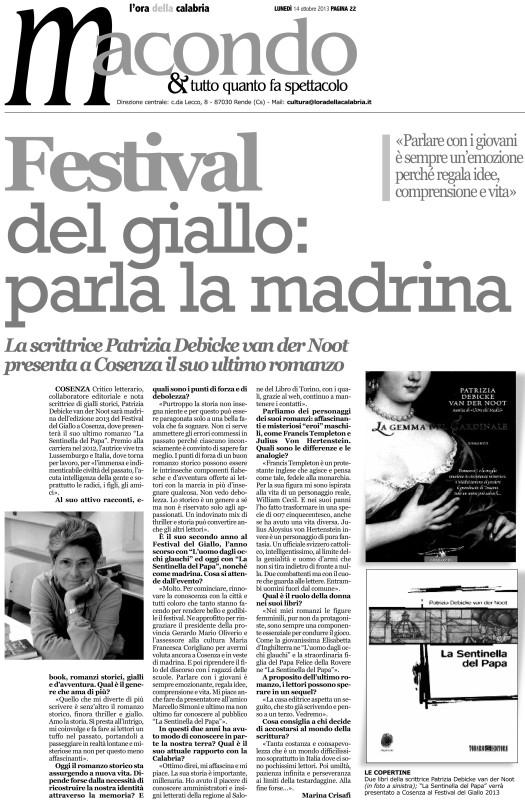 ORA Festival del Giallo 141013