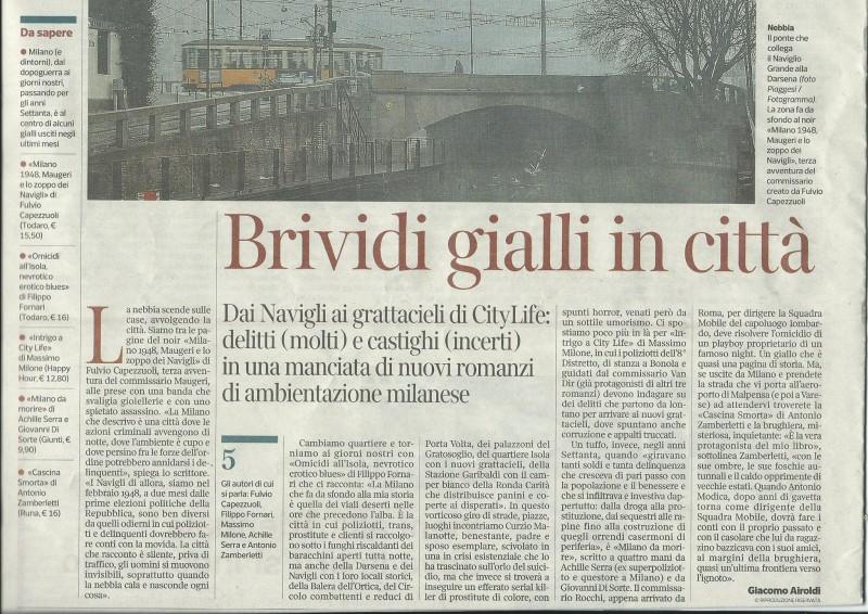 Articolo Corriere Sera